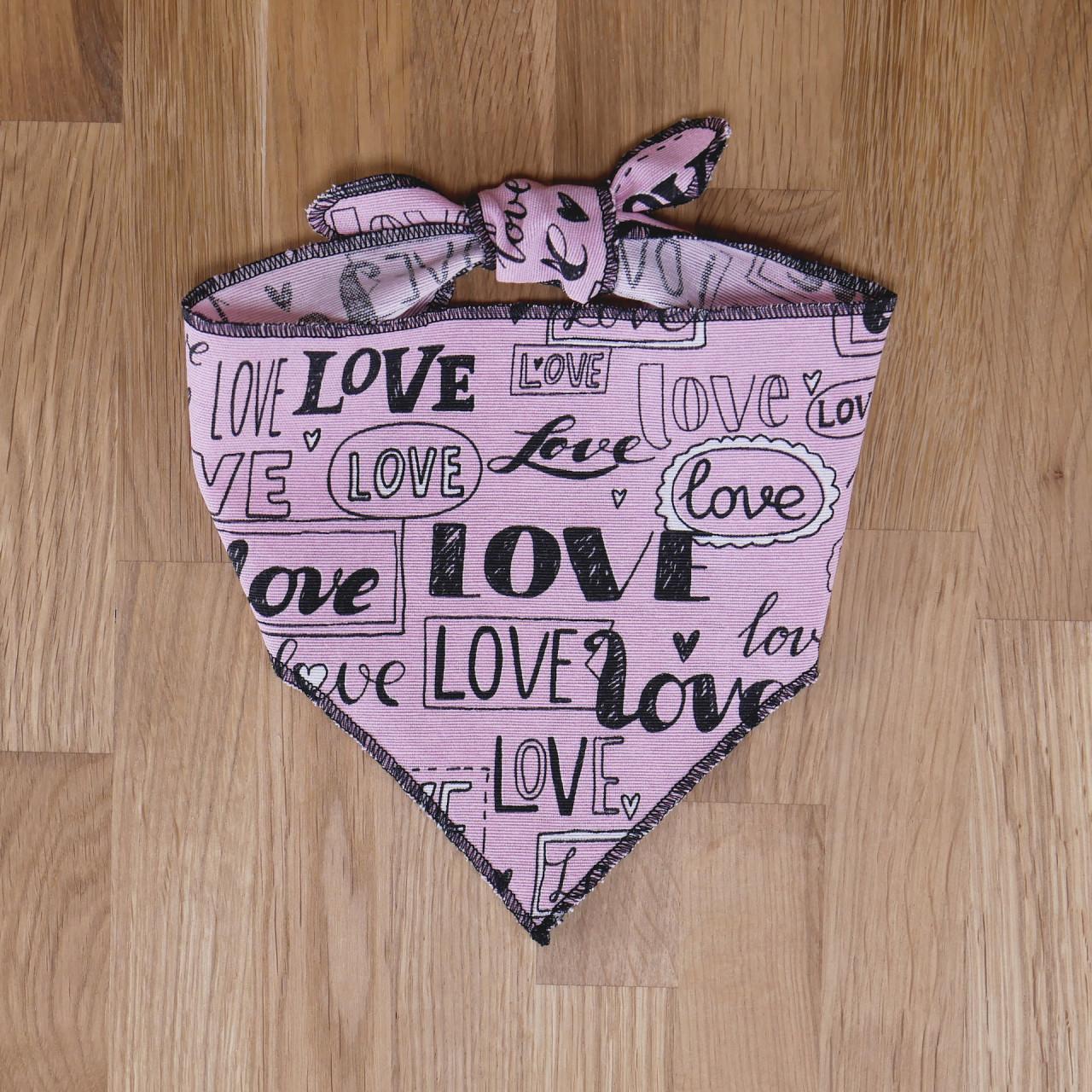 "Hundehalstuch ""Love"""