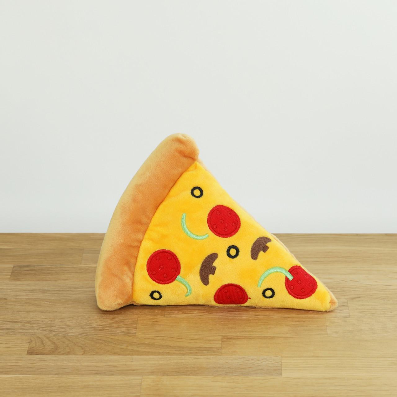 Hundespielzeug Plüsch-Pizzastück