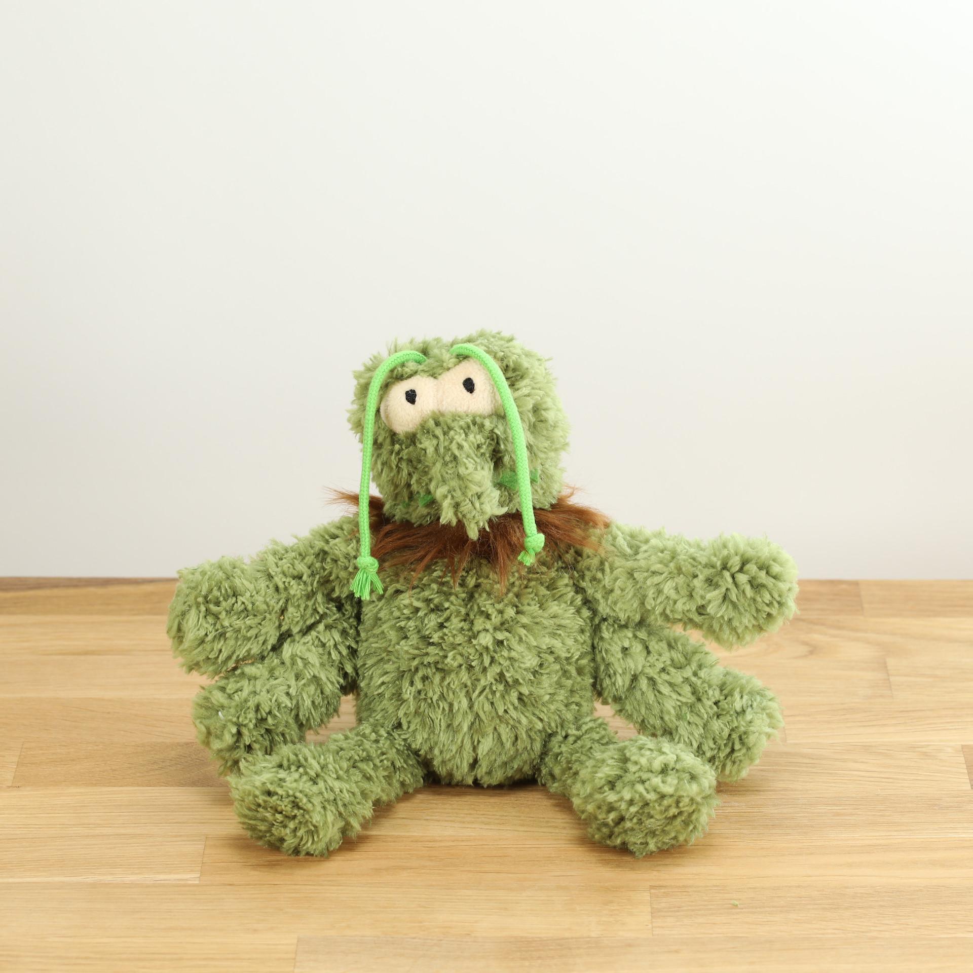 Hundespielzeug Scratchy, der grüne Floh