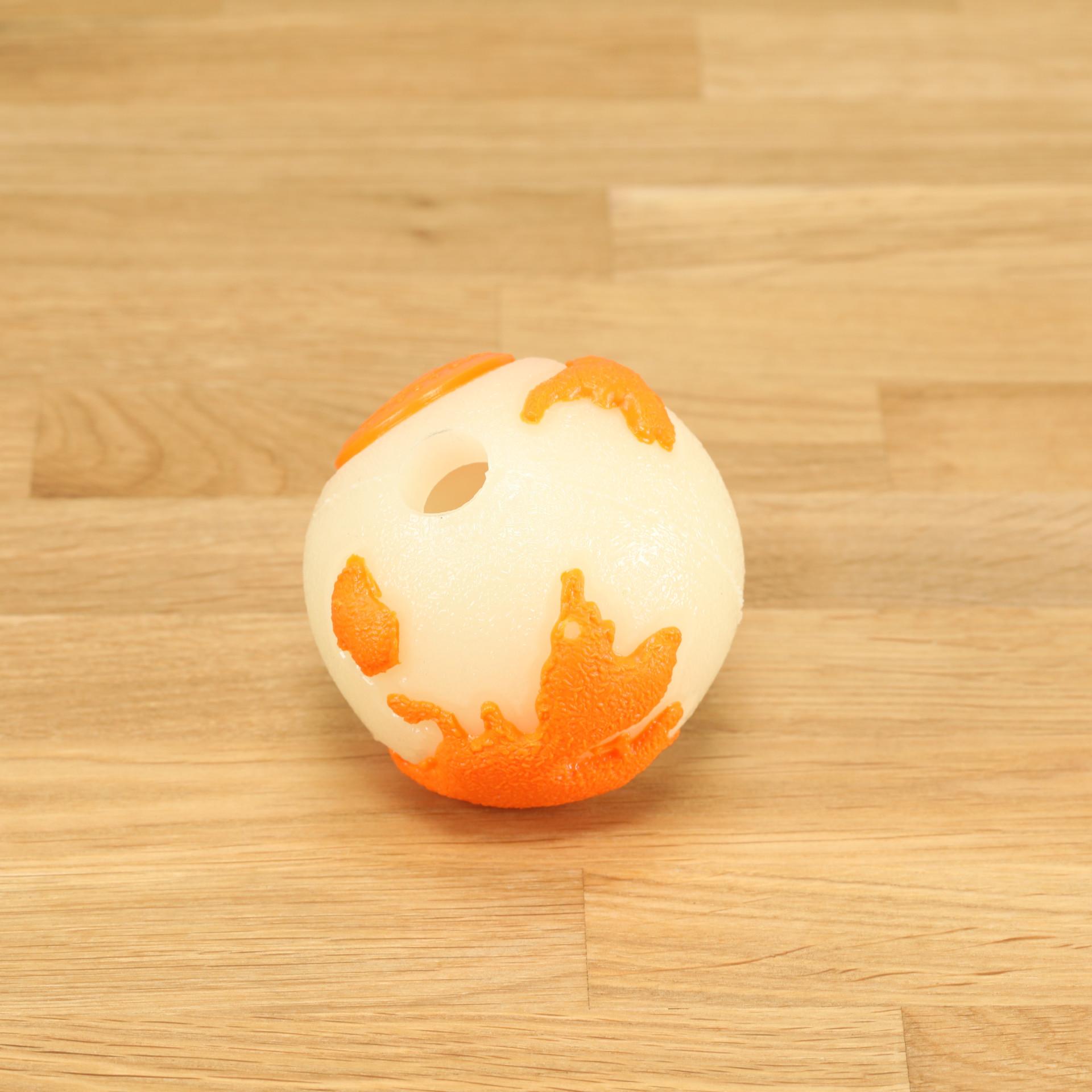 Hundespielzeug Orbee Ball leuchtend/orange