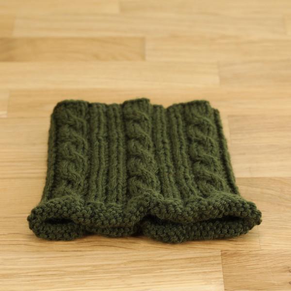 Merino Wollkragen dunkelgrün