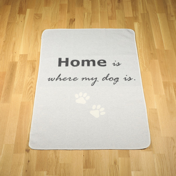 "Hundedecke ""home is where my dog is"" filz"