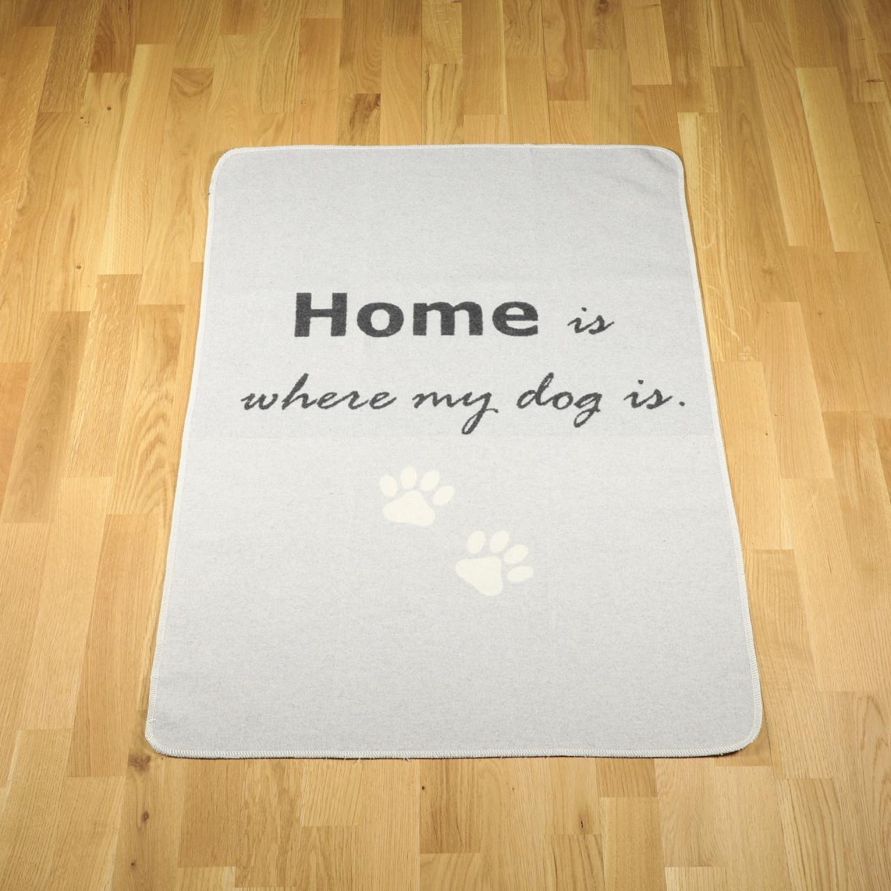 "Hundedecke ""home is where my dog is"" filz"
