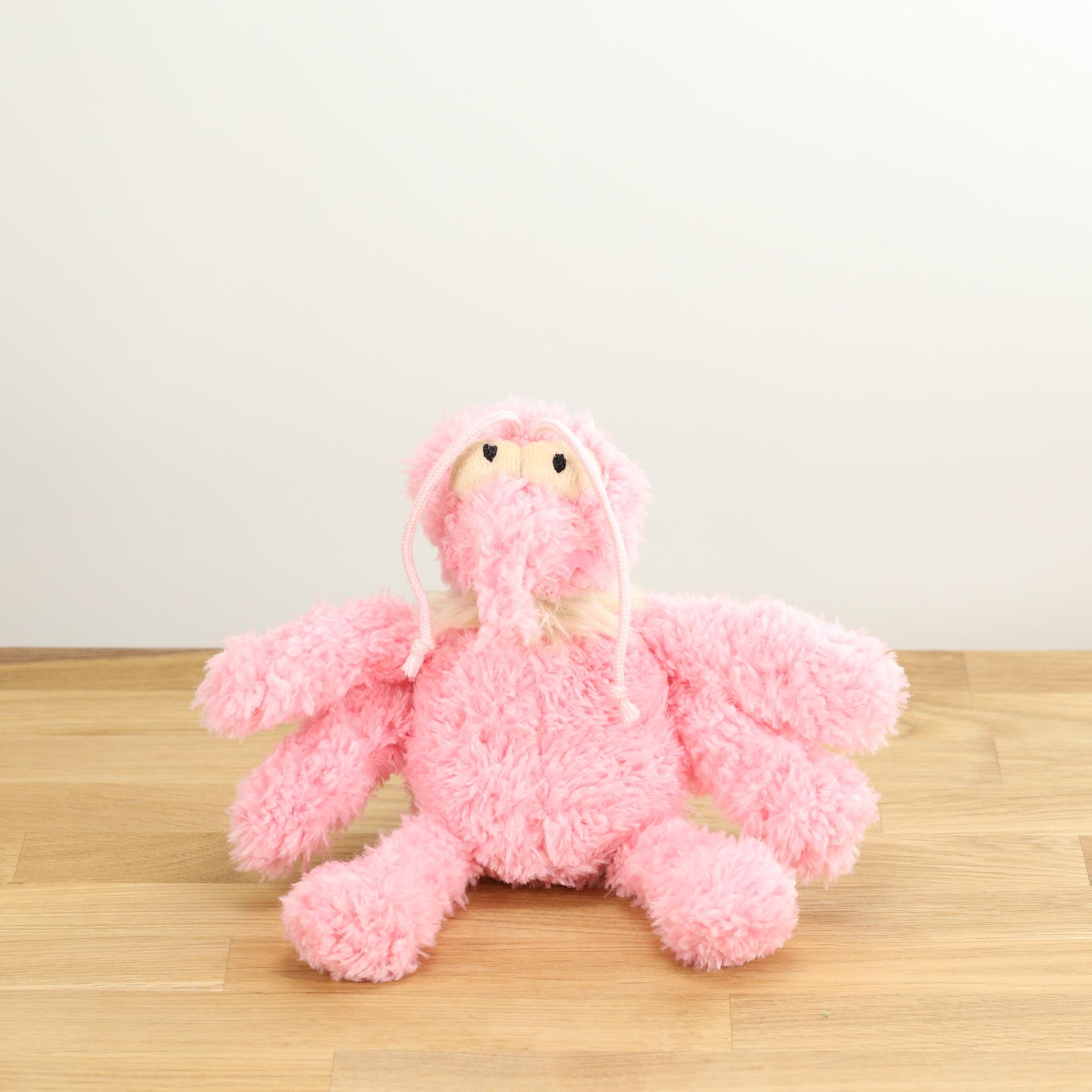 Hundespielzeug Scratchette, der rosa Floh