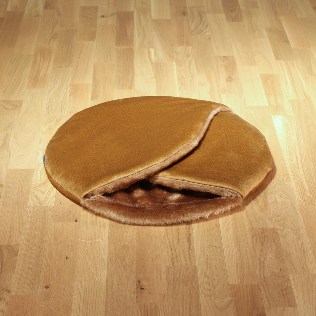 "Hundeschlafsack ""Macaron"" karamell"