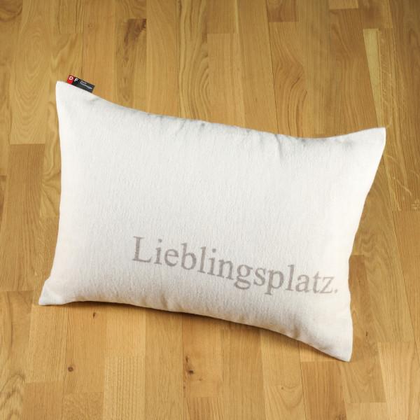 "Kissen ""Lieblingsplatz"" rauch"