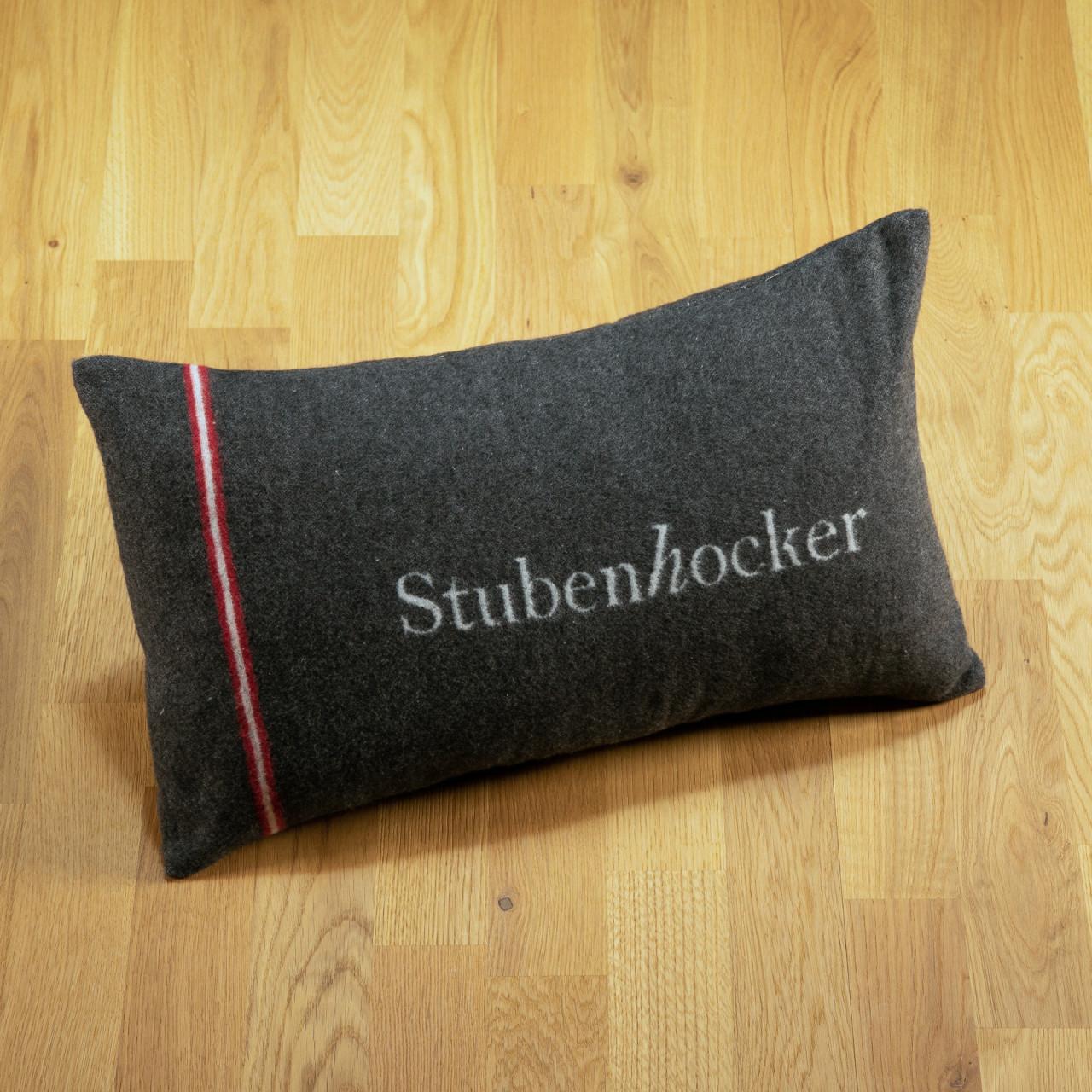"Kissen ""Stubenhocker"" anthrazit"