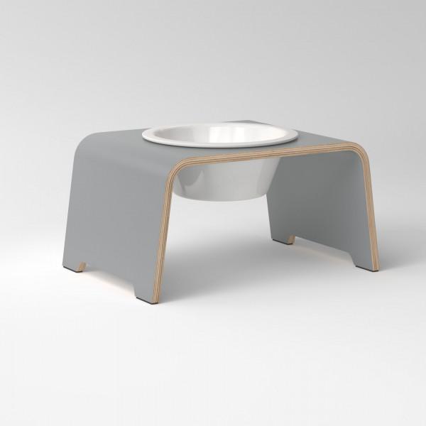 dogBar® Single grau mit Porzellannapf