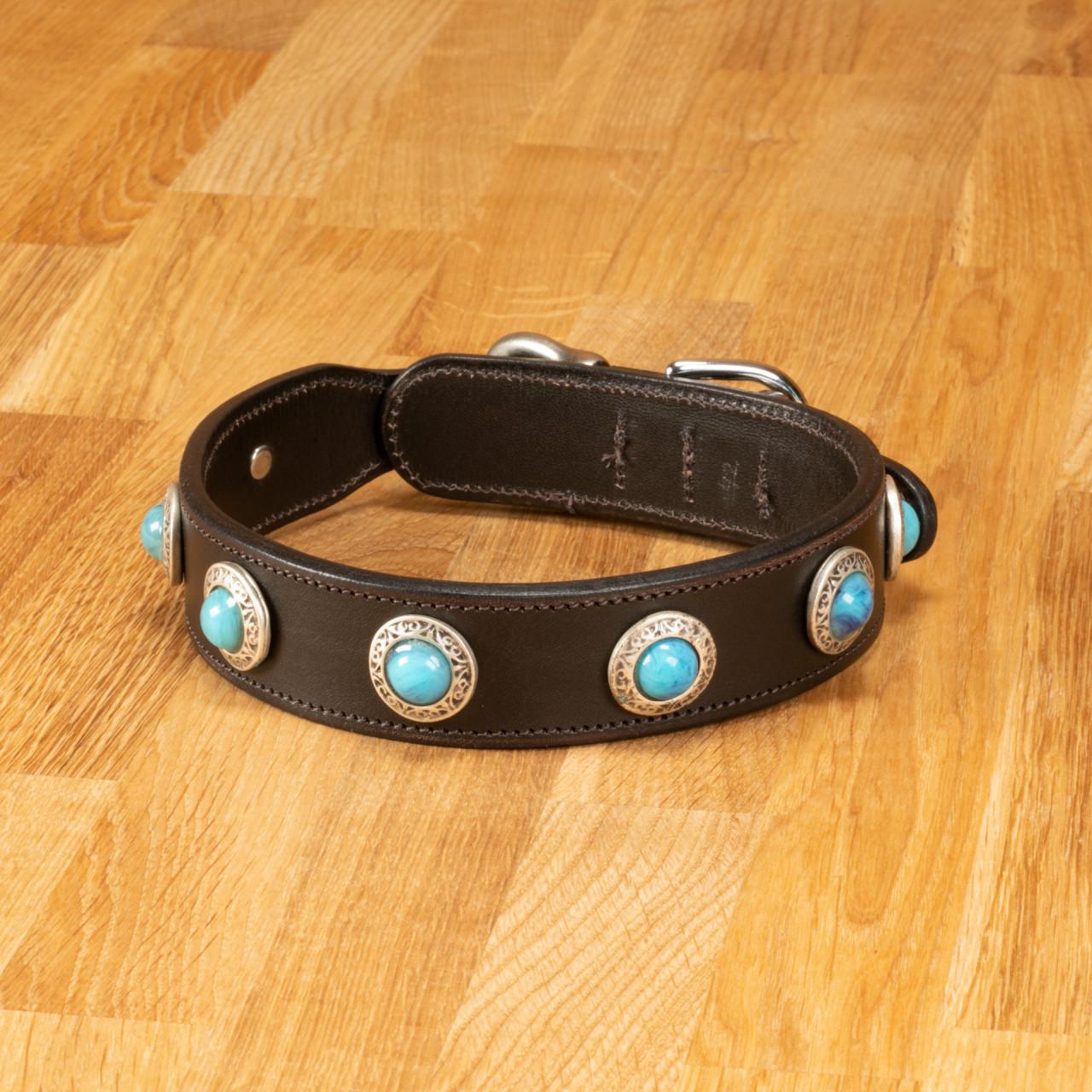 """Hundehalsband """"Delft"""" Leder dunkelbraun"""