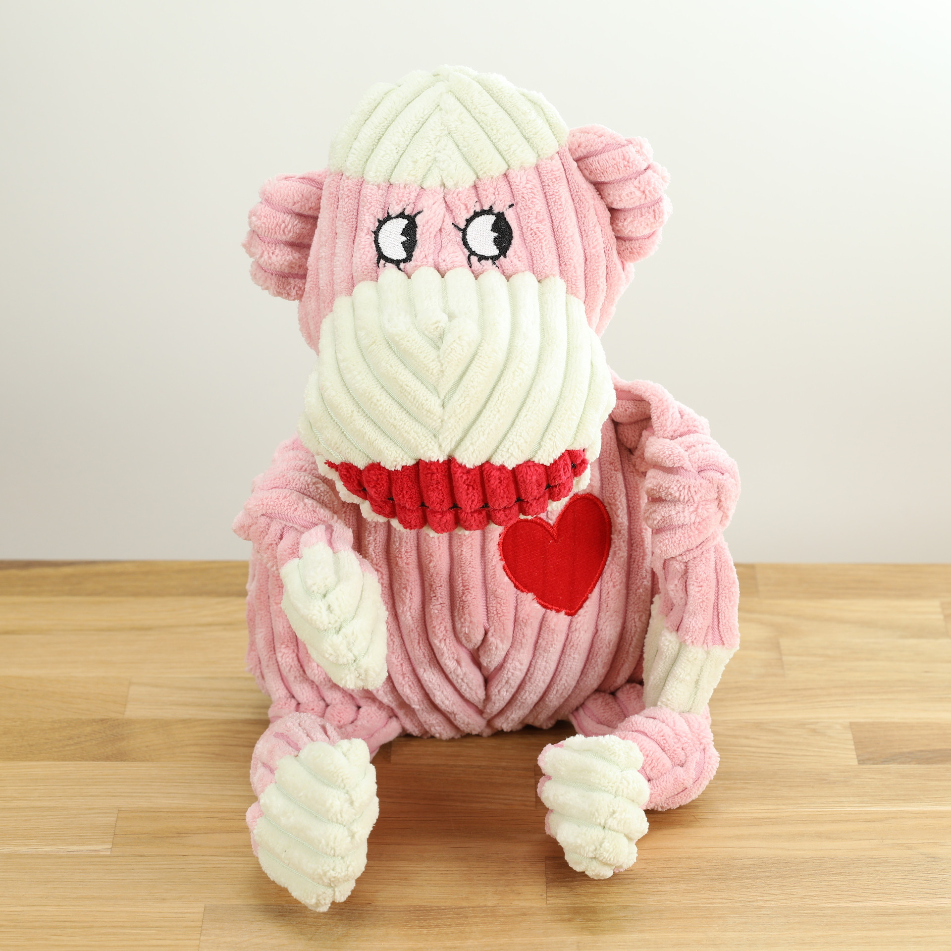 Hundespielzeug Fräulein Sock, der rosa Affe